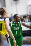 Αθλητισμός καλαθοσφαίρισης στην Ουκρανία, οι ενεργές στιγμές ενός παιχνιδιού Στοκ Φωτογραφία