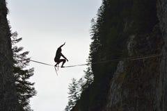 Αθλητισμός μεταξύ των βράχων Στοκ Φωτογραφίες