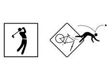 αθλητισμός σημαδιών Στοκ Εικόνες