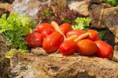 αθλητισμός σιτηρεσίου Λαχανικά και γλυκό νερό Στοκ Εικόνες