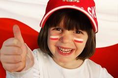 Πολωνικός αθλητικός ανεμιστήρας κοριτσιών Στοκ εικόνες με δικαίωμα ελεύθερης χρήσης
