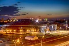 Αθλητισμός χώρων Chizhovka σύνθετος Ένας από τους κύριους αθλητικούς τόπους συναντήσεως για τα δεύτερα ευρωπαϊκά παιχνίδια στο Μι στοκ εικόνες