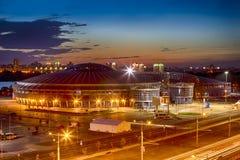 Αθλητισμός χώρων Chizhovka σύνθετος Ένας από τους κύριους αθλητικούς τόπους συναντήσεως για τα δεύτερα ευρωπαϊκά παιχνίδια στο Μι στοκ εικόνα με δικαίωμα ελεύθερης χρήσης