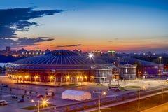 Αθλητισμός χώρων Chizhovka σύνθετος ως έναν από τους κύριους αθλητικούς τόπους συναντήσεως για τα δεύτερα ευρωπαϊκά παιχνίδια στο στοκ εικόνες