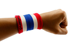 Αθλητισμός wristband στοκ φωτογραφία με δικαίωμα ελεύθερης χρήσης
