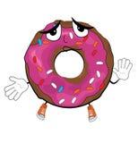 Αθώα doughnut κινούμενα σχέδια Στοκ εικόνες με δικαίωμα ελεύθερης χρήσης