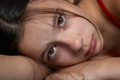 αθώος λυπημένος κοριτσιών στοκ φωτογραφίες