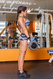 Αθλήτρια στη γυμναστική. Στοκ φωτογραφία με δικαίωμα ελεύθερης χρήσης