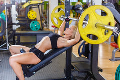 Αθλήτρια στη γυμναστική Στοκ εικόνες με δικαίωμα ελεύθερης χρήσης