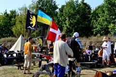Αθλητές πολεμιστών στρατόπεδων προετοιμασία για τη μάχη Στοκ φωτογραφίες με δικαίωμα ελεύθερης χρήσης