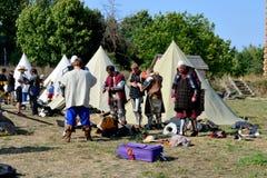 Αθλητές πολεμιστών στρατόπεδων προετοιμασία για τη μάχη Στοκ φωτογραφία με δικαίωμα ελεύθερης χρήσης