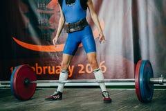 Αθλητής κοριτσιών ο ανταγωνισμός στοκ φωτογραφίες