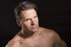 Αθλητής με τα έντονα μάτια Στοκ Εικόνα