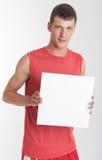 Αθλητής με το σημάδι Στοκ εικόνα με δικαίωμα ελεύθερης χρήσης