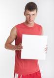 Αθλητής με το σημάδι Στοκ Εικόνες