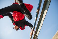 Αθλητής Parkour Στοκ φωτογραφία με δικαίωμα ελεύθερης χρήσης