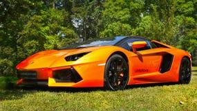 Αθλητικά αυτοκίνητα, έξοχος-αυτοκίνητα, Lamborghini Aventador Στοκ Εικόνες