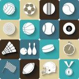 Αθλητικά εικονίδια - διανυσματική απεικόνιση Στοκ Εικόνες