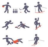 Αθλητικά εικονίδια Στοκ εικόνα με δικαίωμα ελεύθερης χρήσης