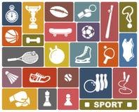 Αθλητικά εικονίδια ελεύθερη απεικόνιση δικαιώματος