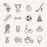 Αθλητικά εικονίδια Στοκ Εικόνες