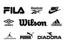 Αθλητικά εμπορικά σήματα Στοκ εικόνα με δικαίωμα ελεύθερης χρήσης