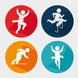 Αθλητικά παιχνίδια και τρόπος ζωής ικανότητας γραφικός Στοκ Εικόνες