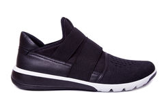 αθλητικά παπούτσια μαύρων Απομονώστε στο λευκό Στοκ εικόνα με δικαίωμα ελεύθερης χρήσης