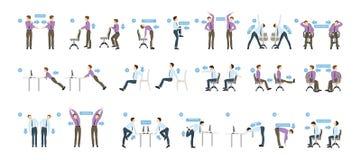 Αθλητικές ασκήσεις για το γραφείο ελεύθερη απεικόνιση δικαιώματος