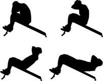 Αθλητικές σκιαγραφίες Στοκ φωτογραφία με δικαίωμα ελεύθερης χρήσης