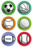 Αθλητικές σφαίρες στοκ εικόνες
