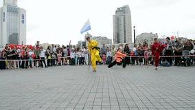 Αθλητική έκθεση 2014 - αθλητικό φεστιβάλ παιδιών, Κίεβο, Ουκρανία, απόθεμα βίντεο