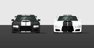 Αθλητική ακριβή συντονισμένη απομονωμένη αυτοκίνητα διανυσματική απεικόνιση Στοκ φωτογραφία με δικαίωμα ελεύθερης χρήσης