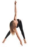 αθλητική γυναίκα τεντώμα&tau Στοκ εικόνα με δικαίωμα ελεύθερης χρήσης