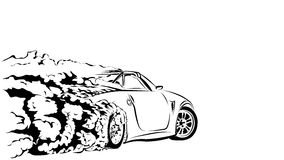 Αθλητική κλίση αυτοκινήτων Στοκ Εικόνα