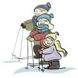 Αθλητική οικογένεια Στοκ Φωτογραφία