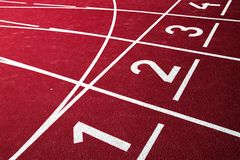 Αθλητική τρέχοντας διαδρομή Στοκ Φωτογραφία