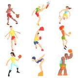 Αθλητικοί άνθρωποι καθορισμένοι Στοκ φωτογραφία με δικαίωμα ελεύθερης χρήσης