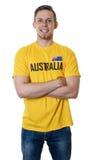 Αθλητικός ανεμιστήρας γέλιου από την Αυστραλία στοκ φωτογραφία με δικαίωμα ελεύθερης χρήσης