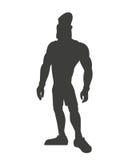 Αθλητικός μυϊκός ατόμων σκιαγραφιών υγιής απεικόνιση αποθεμάτων