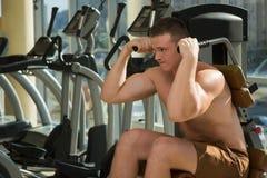 Αθλητικός τύπος στη γυμναστική Στοκ Εικόνες