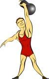 Αθλητικός τύπος Weightlifting απεικόνιση αποθεμάτων