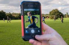 Αθλητικός φωτογράφος Στοκ φωτογραφία με δικαίωμα ελεύθερης χρήσης