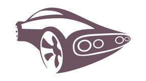 Αθλητικό αυτοκίνητο σκιαγραφιών Στοκ Εικόνες