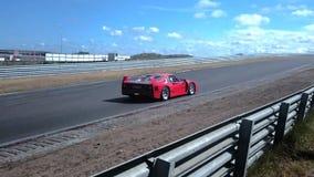 Αθλητικό αυτοκίνητο Ferrari F40 απόθεμα βίντεο