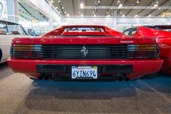 Αθλητικό αυτοκίνητο Ferrari Testarossa (τύπος F110), 1985 Στοκ εικόνα με δικαίωμα ελεύθερης χρήσης