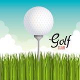 Αθλητικό εικονίδιο γκολφ κλαμπ ελεύθερη απεικόνιση δικαιώματος