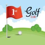 Αθλητικό εικονίδιο γκολφ κλαμπ διανυσματική απεικόνιση