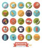 Αθλητικό επίπεδο σχέδιο γύρω από το διανυσματικό σύνολο 2 εικονιδίων Στοκ φωτογραφία με δικαίωμα ελεύθερης χρήσης
