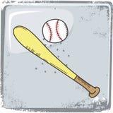 Αθλητικό θέμα μπέιζ-μπώλ ελεύθερη απεικόνιση δικαιώματος